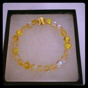 Sunshine Gold Moonstone Bracelet